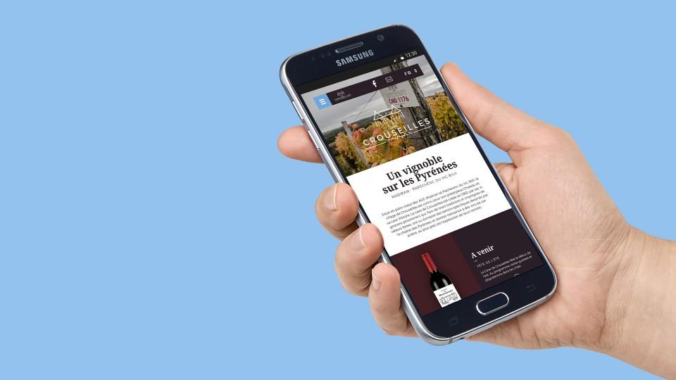 Cave de Crouseilles - Site web Huge Communication